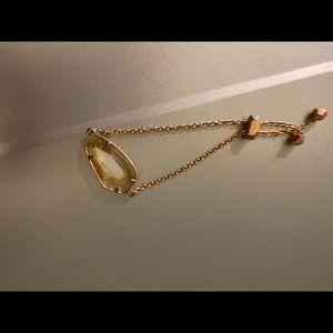 Kendra Scott Elaina rose gold adjustable bracelet